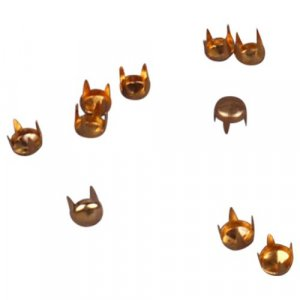 Gold Metal Round Dome Pyramid Studs - 4mm