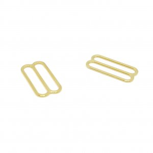 Premium Quality Gold Metal Alloy Slides - 1 inch or 25mm