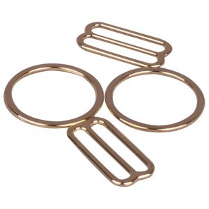 Gold Metal Alloy Ring & Slide Set - 3/4 inch or 19mm
