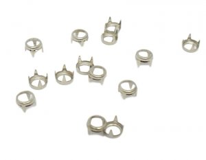 Silver Metal Round Open Studs - 5mm