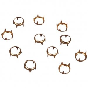 Gold Round Open Metal Studs - 8mm