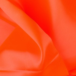 Bright Orange Polyester Satin - 3 1/4 Yard