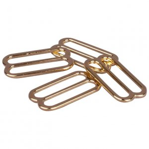 Gold Metal Alloy Slides - 3/4 inch or 19mm