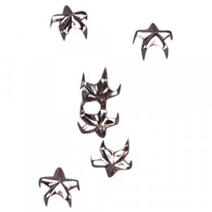 Silver Metal Star Studs - 6mm