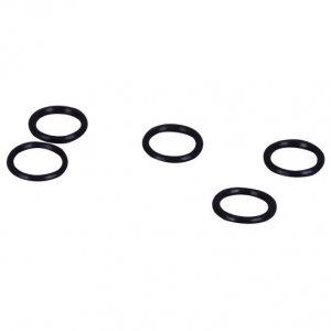 Black Plastic Rings - 1/4 inch or 7mm