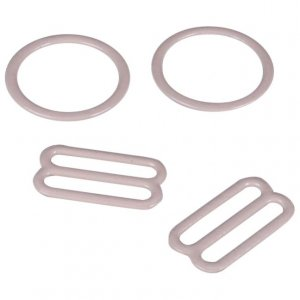 Beige Metal Ring & Slide Set - 3/4 inch or 18mm