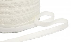 White Waistband or Strap Elastic - 1/2 inch