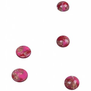 Burgundy Plastic Stone - 9mm - 100 Pieces
