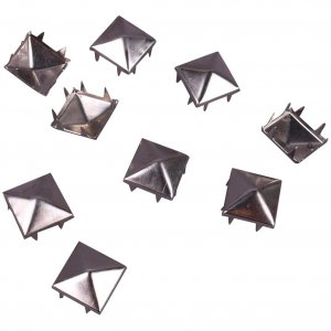 Silver Metal Pyramid Square Studs - 12mm