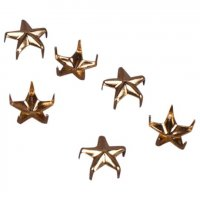 Vintage Retro Gold Metal Star Studs - 9mm