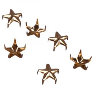 Gold Metal Star Studs - 9mm