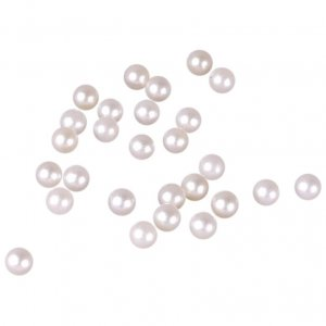 Round Cream Pearl Stone - 4mm