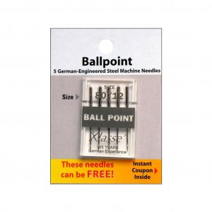 Klasse Ballpoint Needles - 5 piece