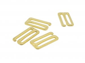 Gold Metal Alloy Slide Hooks - 1 inch or 25mm