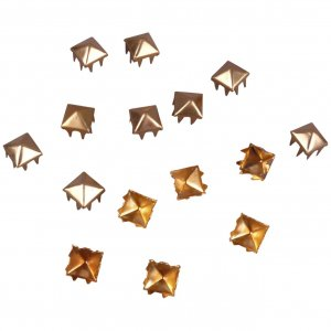 Gold Metal Pyramid Square Studs - 5mm