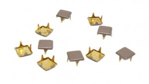 Brown Metal Square Studs - 7mm
