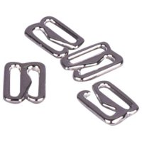 Silver Metal Alloy Slide Hooks - 3/8 inch or 10mm