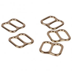 Wide Opening Gold Metal Alloy Slides - 3/8 inch or 10mm