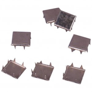 Silver Metal Square Studs - 12mm