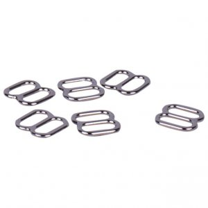 Silver Metal Alloy Slides - 1/4 inch or 7mm