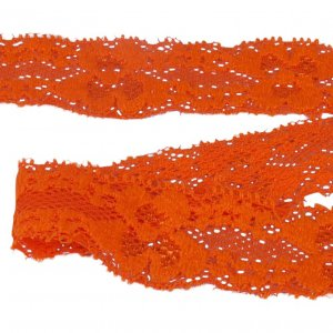 Orange Stretch Lace - 1 inch - 5 Yards