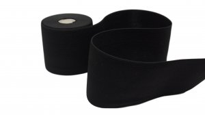 Black Plain Elastic - 2 1/2 inch - 1 yard