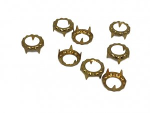 Gold Metal Round Open Decorative Studs - 11mm