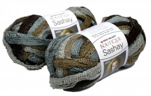 Decorative Brown and Gray Yarn - 2 Packages