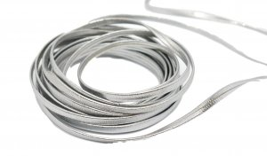 Silver Leather Cording - 5 Yards