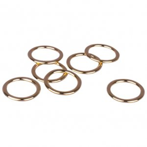 Gold Metal Alloy Rings - 3/8 inch or 10mm