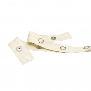 Natural Color Cotton Snap Tape with Silver Metal Snaps - 1 Yards