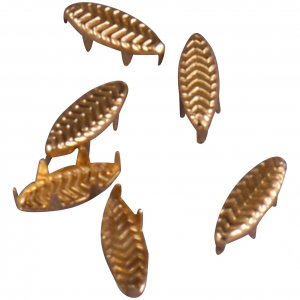 Vintage Retro Gold Metal Leaf Studs - 10mm