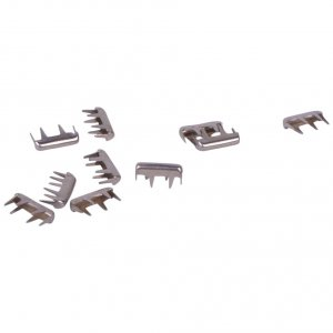 Silver Metal Rectangle Studs - 7mm - 25 Pieces