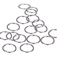 Silver Metal Alloy Rings - 1/2 inch or 13mm