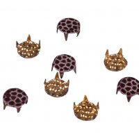 Brown Decorative Metal Round Studs - 7mm