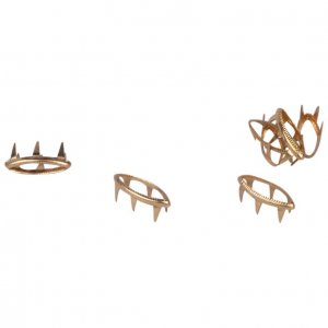 Gold Metal Open Leaf Studs - 11mm - 50 Pieces