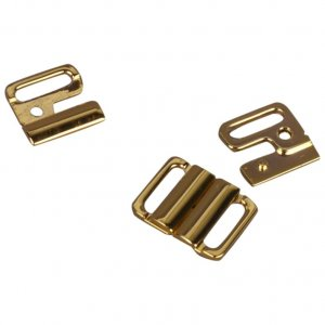 Gold Metal Alloy Front Closure - 1/2 inch - 1 Set