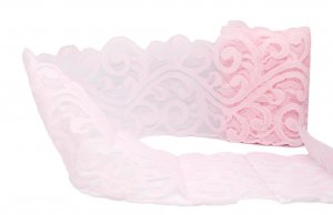"Pale Pink Vintage Lace - 4 1/4"" Wide - 3 1/2 Yards"