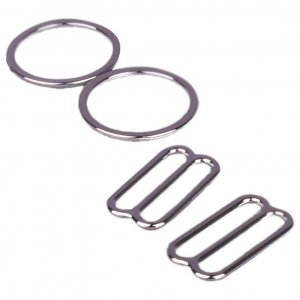 Silver Metal Alloy Ring & Slide Set - 5/8 inch or 16mm