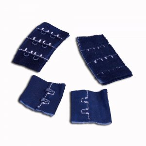 Dark Blue Hook & Eye - 2 rows - 1 Pair