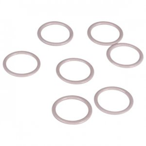 Beige Metal Rings - 3/4 inch or 18mm