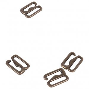 Antique Gold Metal Alloy Hooks - 3/8 inch or 10mm
