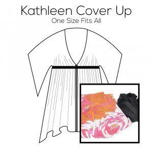 Kathleen Cover Up Pattern with Pink Fabric Kit