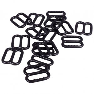 Black Plastic Slides with Teeth - 3/8 inch or 10mm