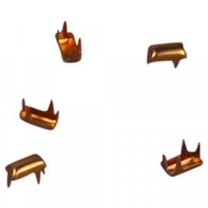 Gold Metal Rectangle Studs - 5mm
