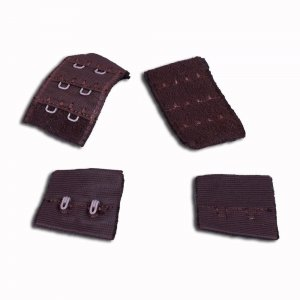 Brown Hook & Eye - 2 rows - 1 Pair