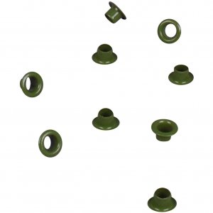 Green Metal Grommet - 4mm