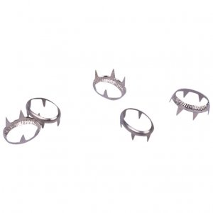 Silver Metal Open Oval Studs - 15mm - 25 Pieces