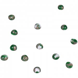 Marble Green Plastic Stone - 7mm - 25 Pieces