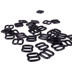 Black Plastic Slides with Teeth - 5/16 inch or 8mm